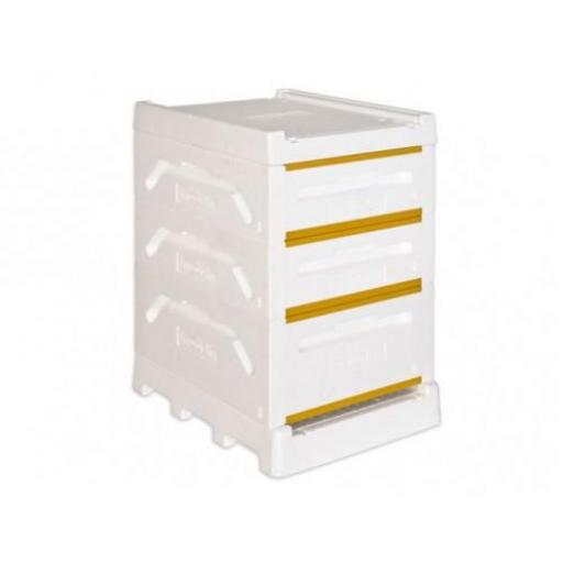Langstroth complete hive with 1 full & 2 medium bodies