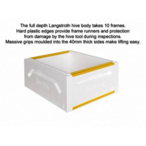 Langstroth complete hive with 1 full & 2 medium bodies - Painted