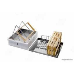 Uncapping tray with lid,uncapping stand and frame holder