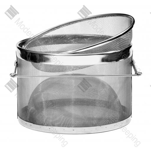 Large Double Stainless Steel Strainer